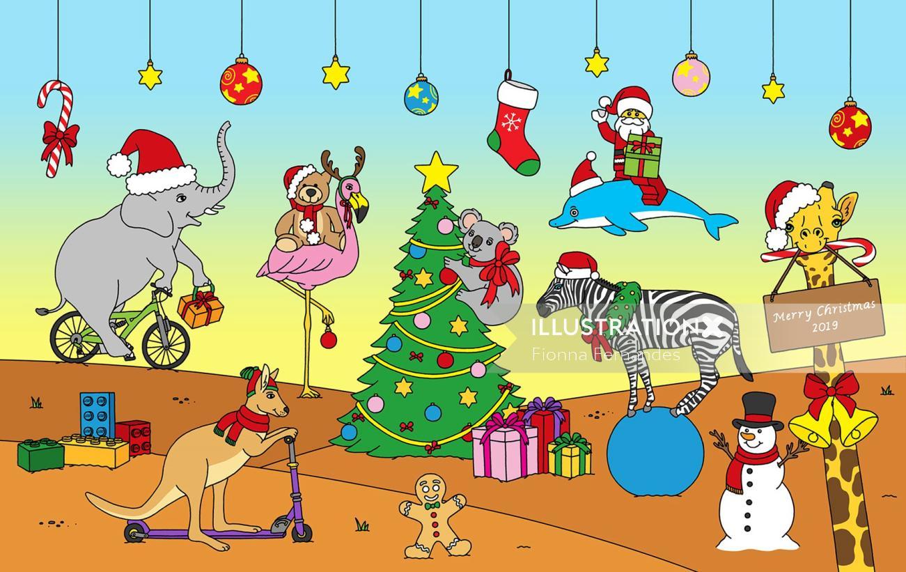 LEGO's Twelve Days of Christmas Graphic design