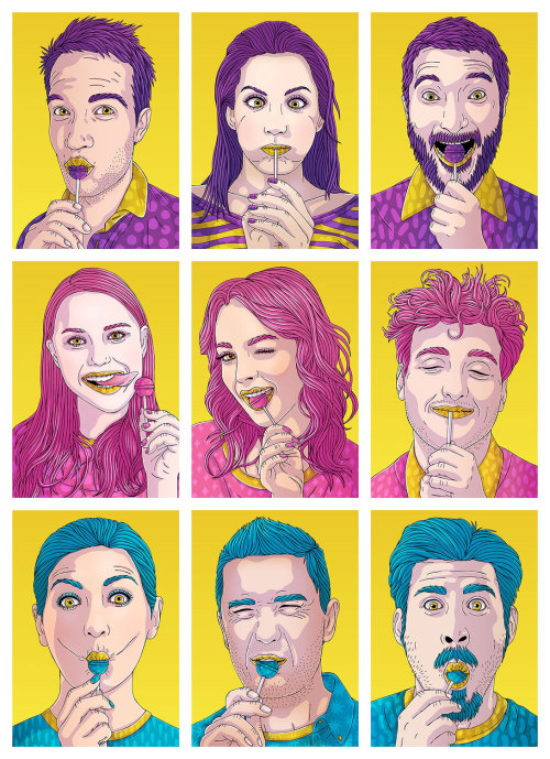 Portrait Artworks For Chupa Chups Australia