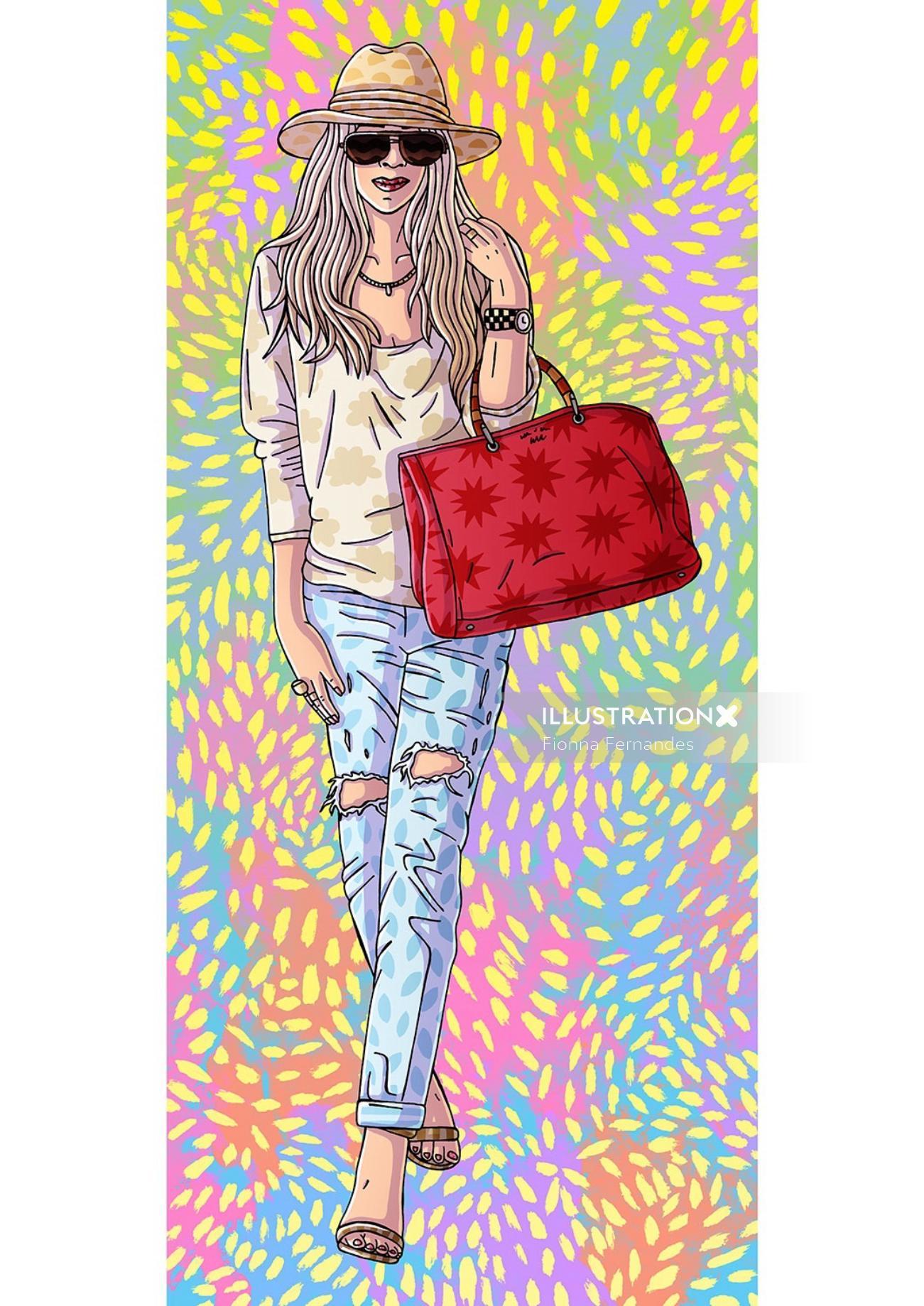 Fashion Sketch Of Sydney Girl