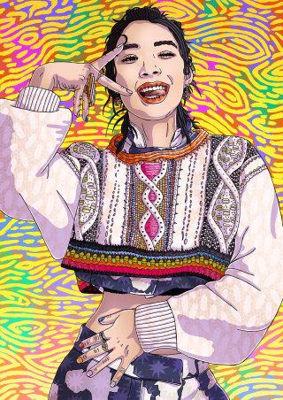 Fashion Illustration Of Rina Sawayama