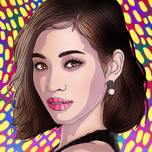 Beauty Illustration For Kiko Mizuhara