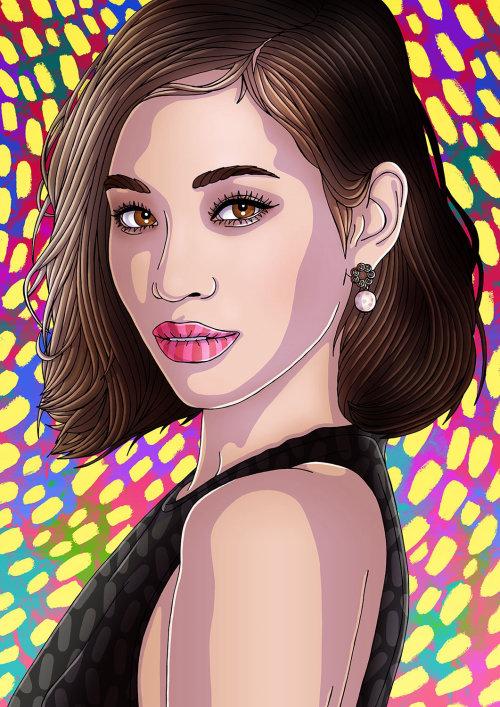 Ilustração de beleza para Kiko Mizuhara