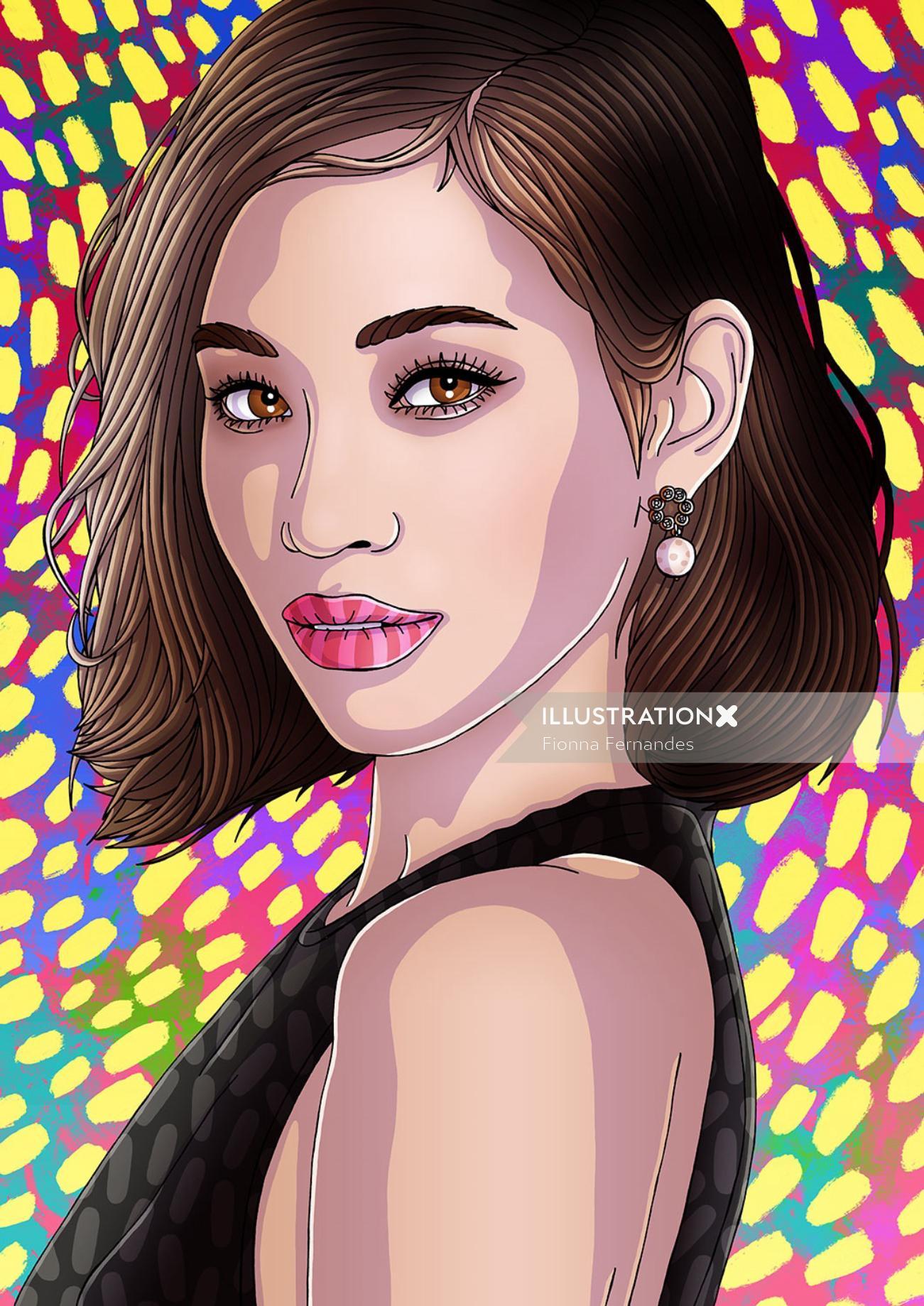 Beauty Illustration For Kiko Mizuhara