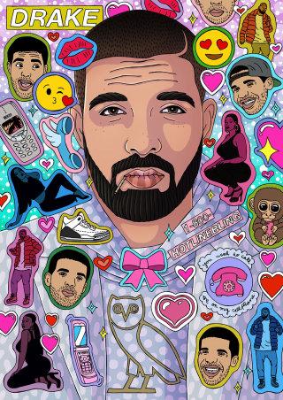 Drake Portrait Artwork By Sydney Based Illustrator