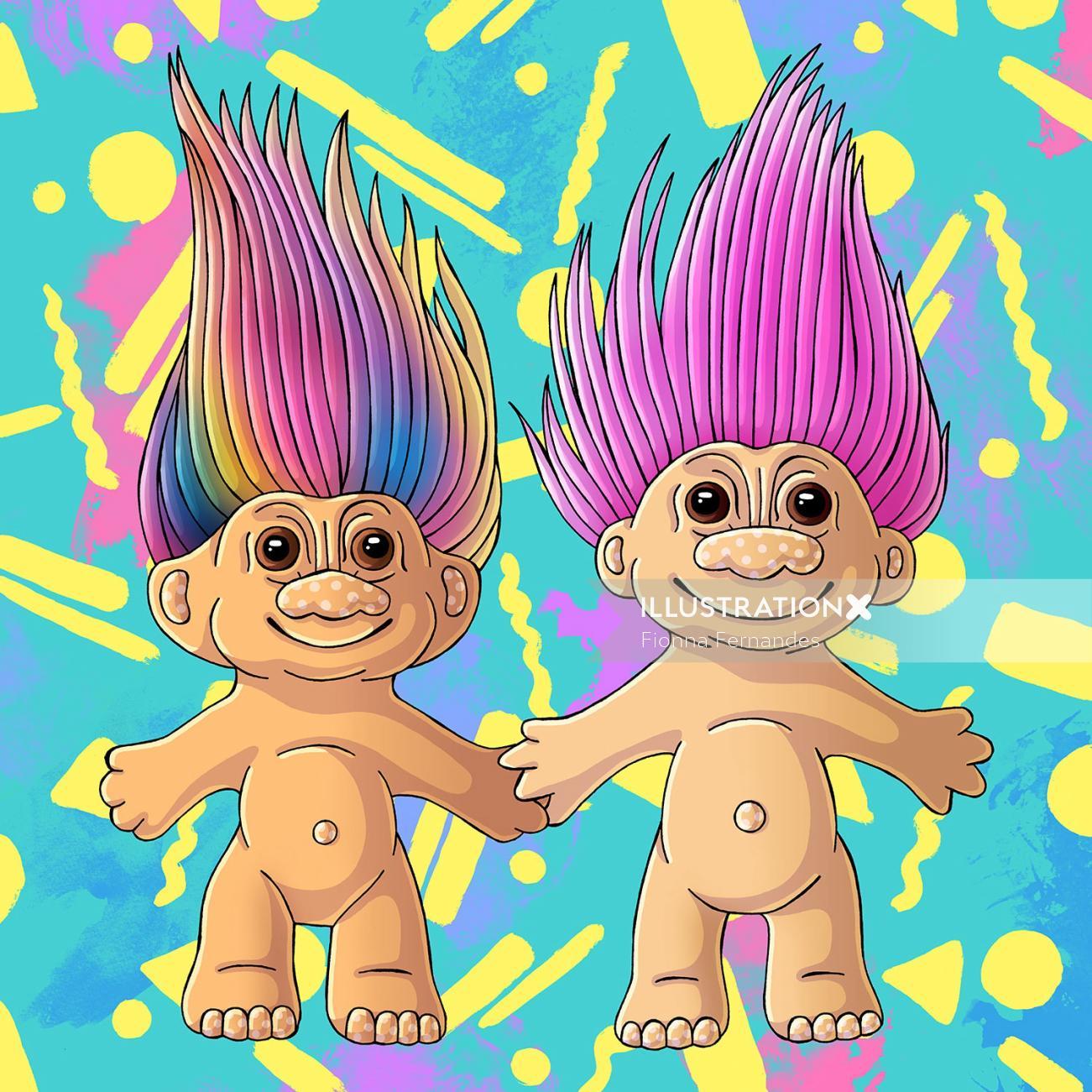 Troll Dolls Graphic Art