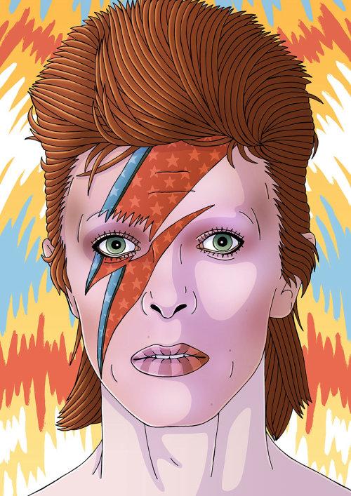 David Bowie Pintura Acrílica