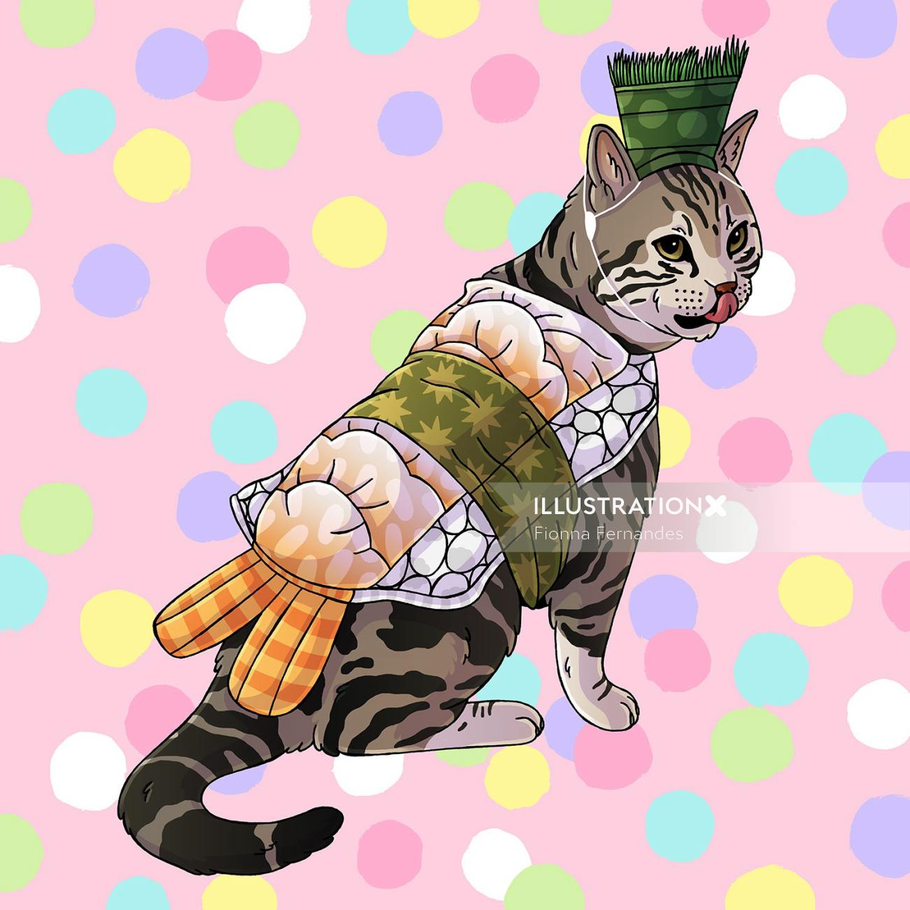 Fashion Animals Sushi Cat