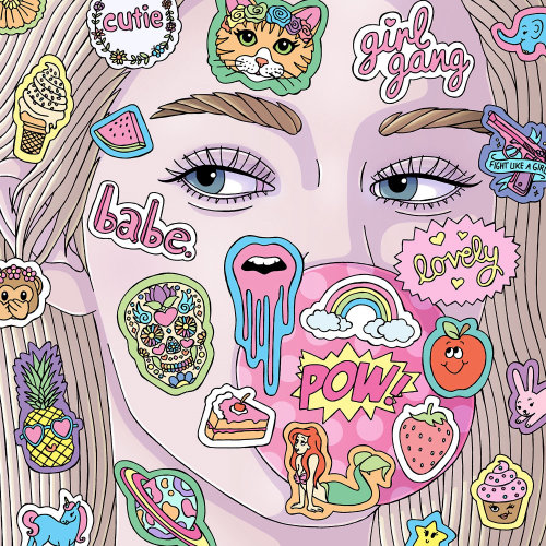 Bubblegum Babe Artwork por Fionna Fernandes Illustrator