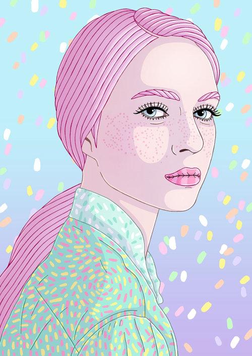 Desenho de moda de uma mulher