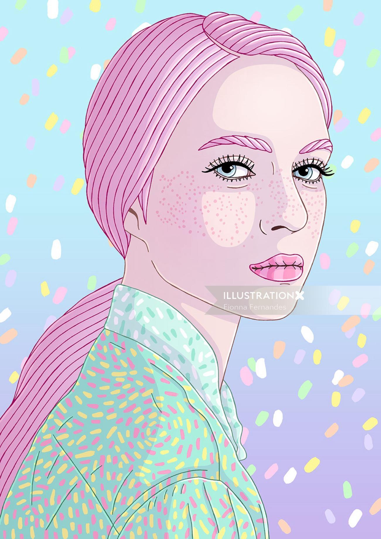 Fashion sketch of a woman