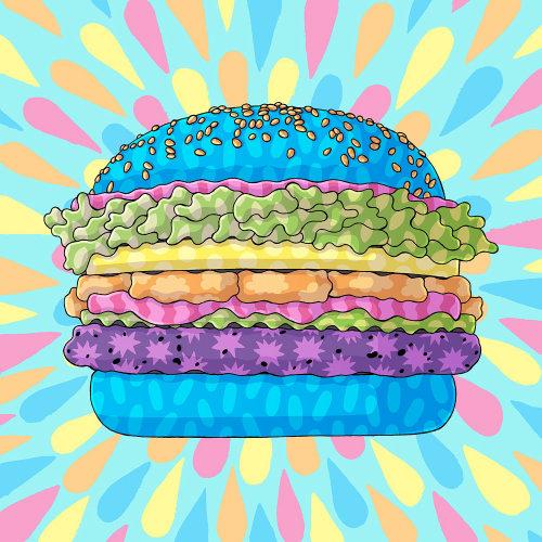Hambúrguer brilhante Clipart