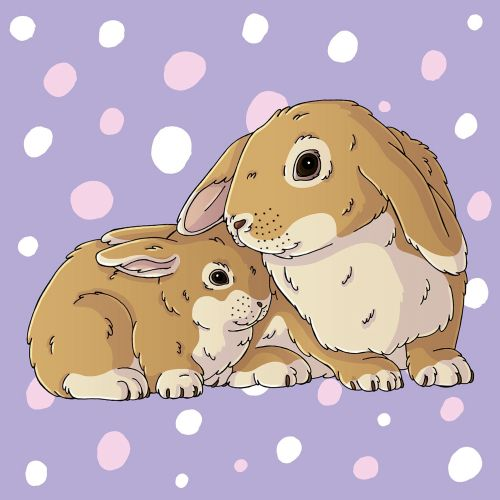 Cuddly Bunnies Graphic Art