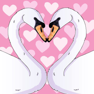 Love Swans Beautiful Painting