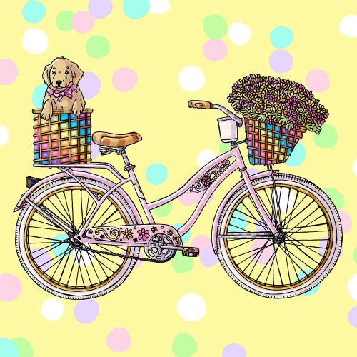 Bicicleta cor-de-rosa - arte gráfica