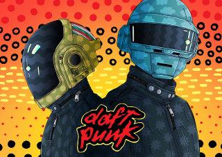 An Illustration For Daft Punk