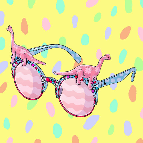 Spangled Disco Dippy Sunglasses
