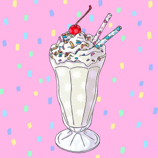 Illustration of Delicious Funfetti Milkshake