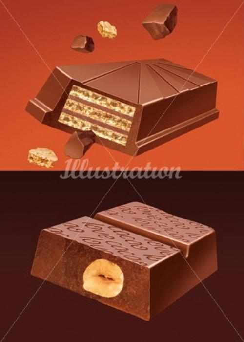 Dessins de chocolat 3D