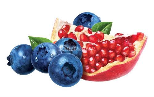 饮食蓝色浆果和水果