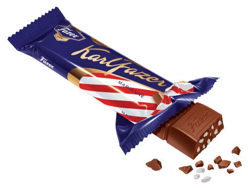 Tablette de chocolat KarlFazer générée par ordinateur