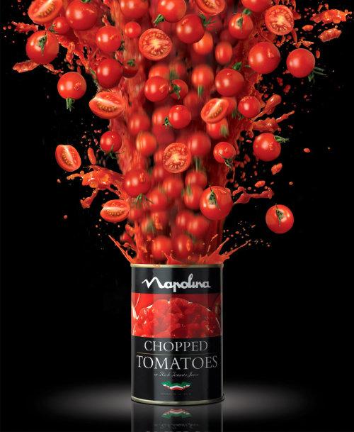 食物和番茄切碎
