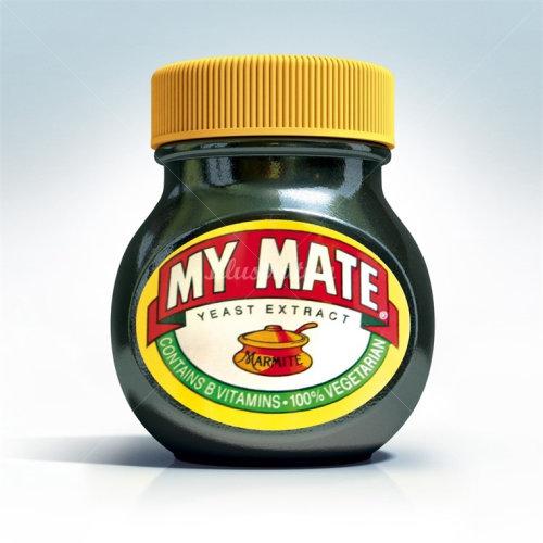 逼真的My Mate瓶子