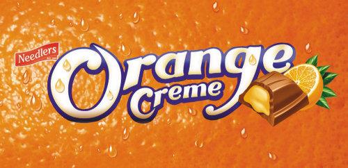 Lettrage Orange Crème