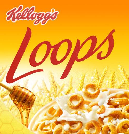 饮食Kellogs Loops