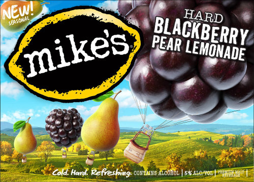 3d / CGI Mikes黑莓梨柠檬水