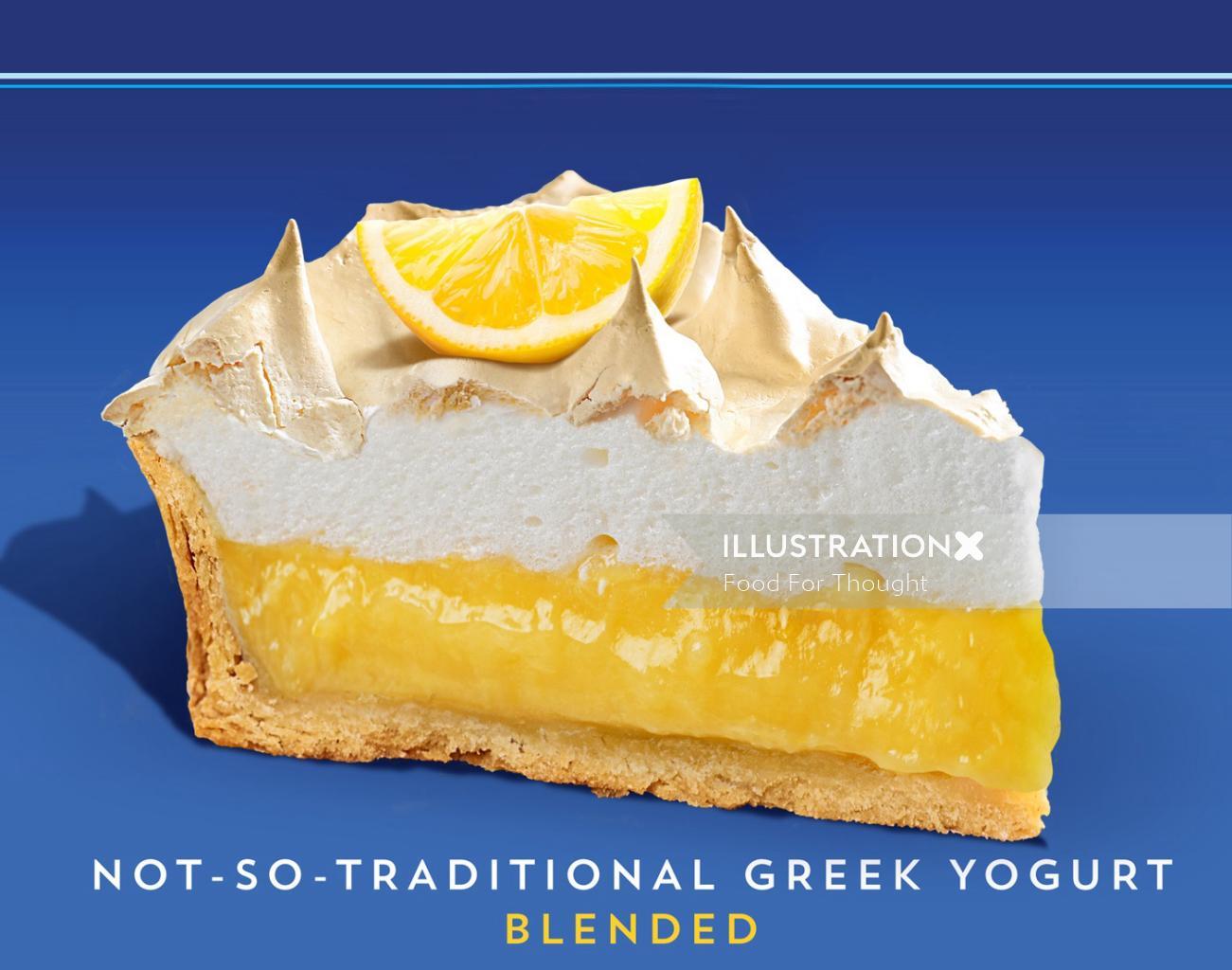 Packaging illustration for Oikos luxury yogurt