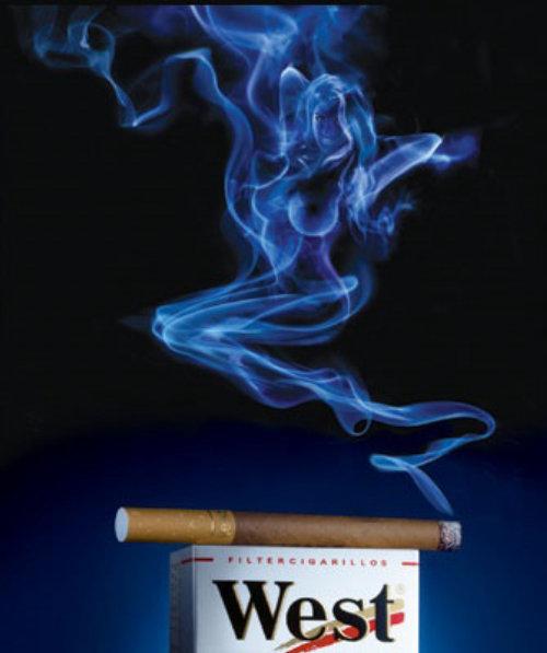 smoke from cigarette