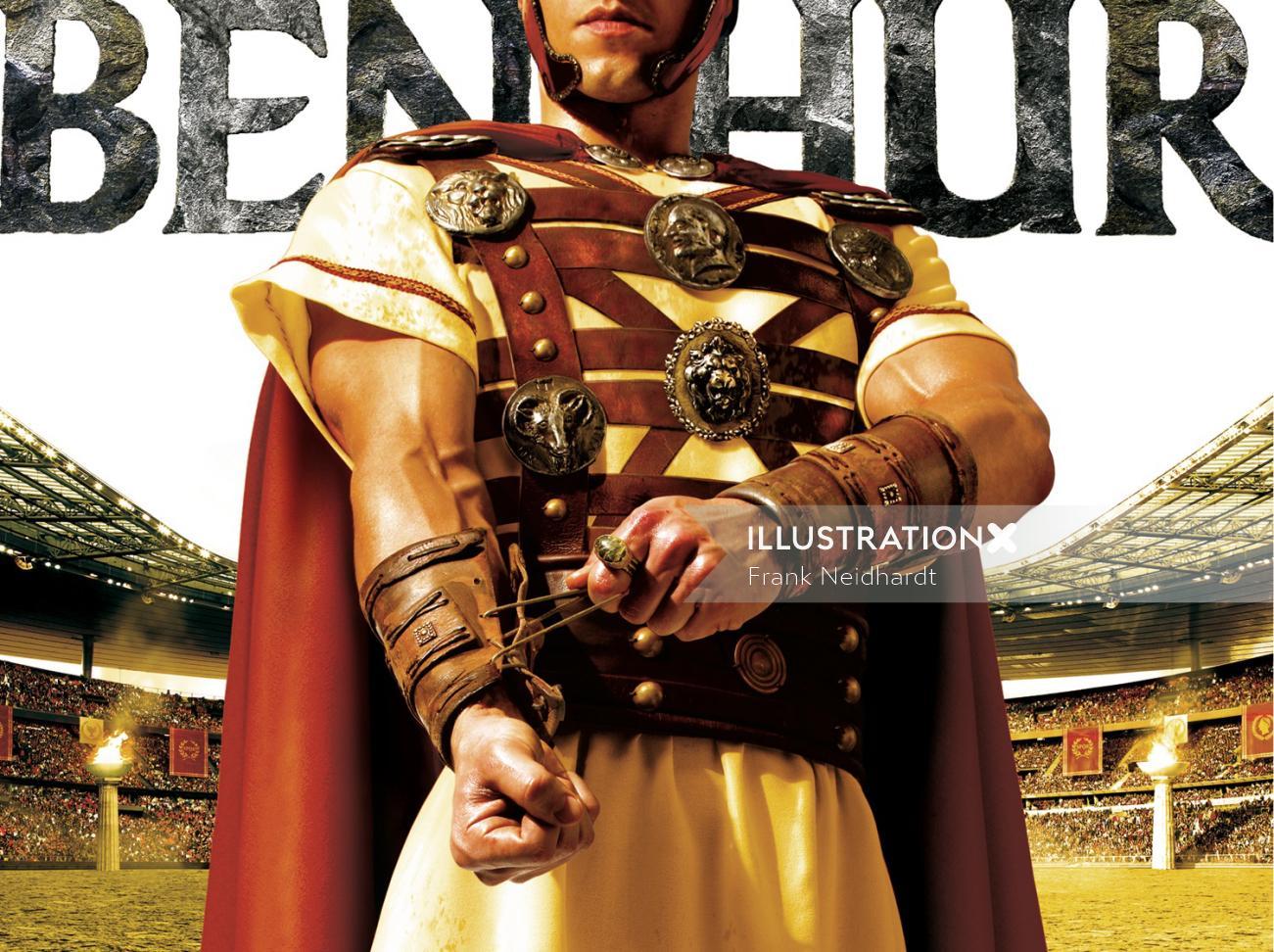 Benhur standing in stadium