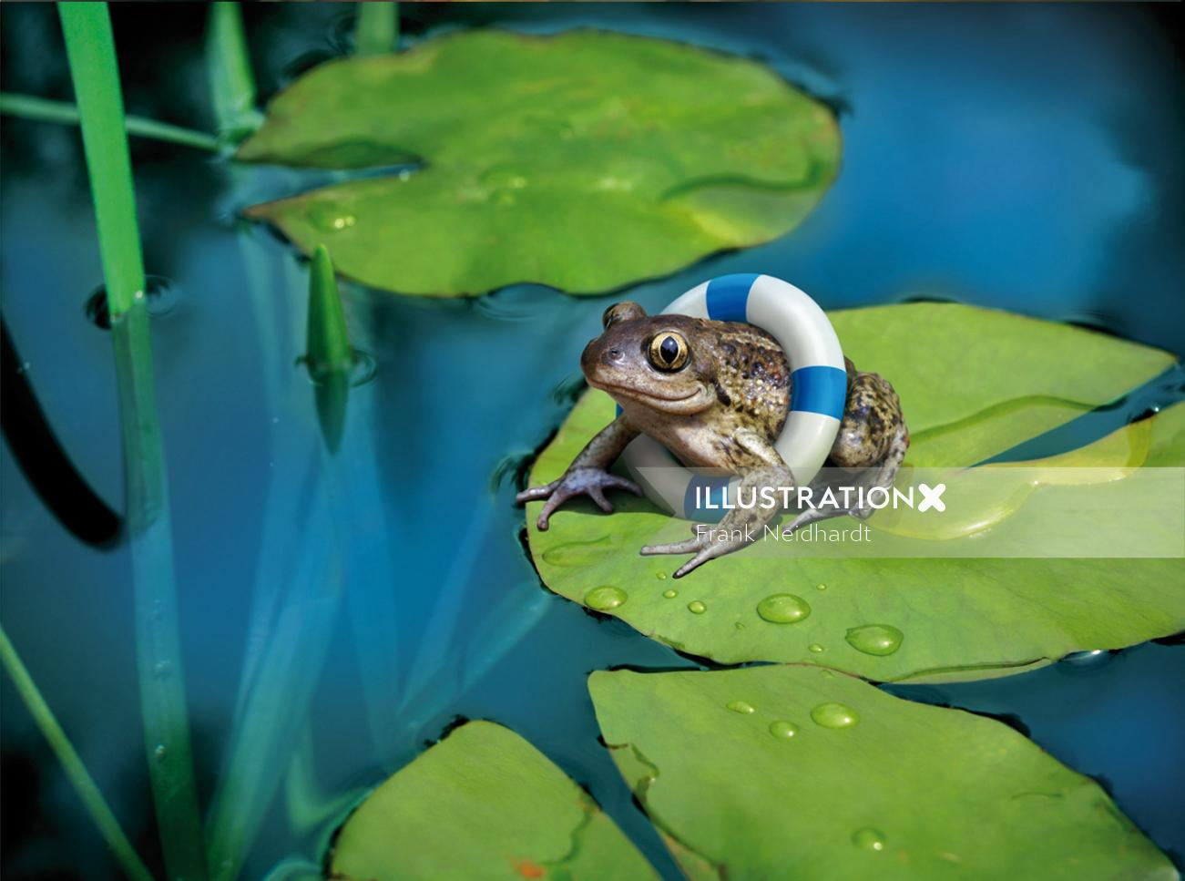Happy frog with air tube