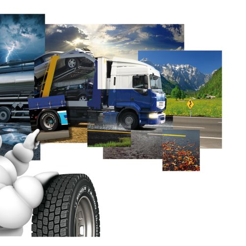 Collage of weathers and truck