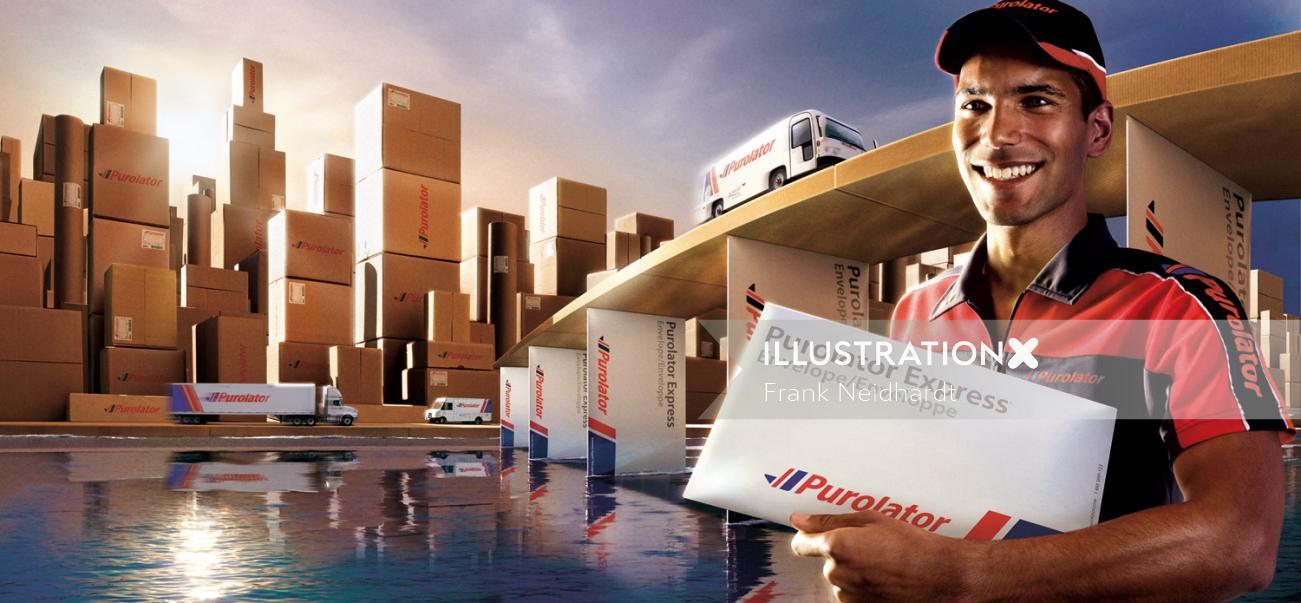 Purolator express courier service