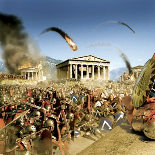 Battle of Spartan and Roman