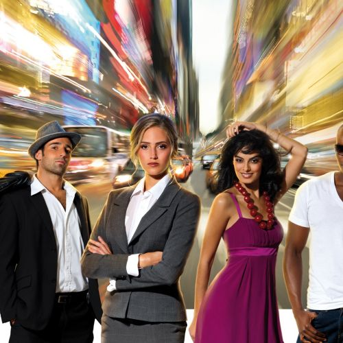People posing in newyork street