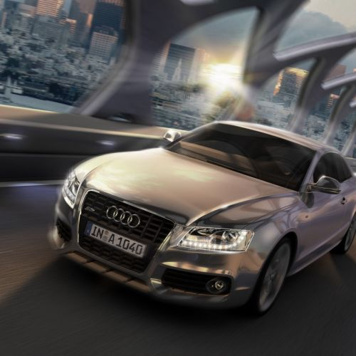 Audi A5 on road