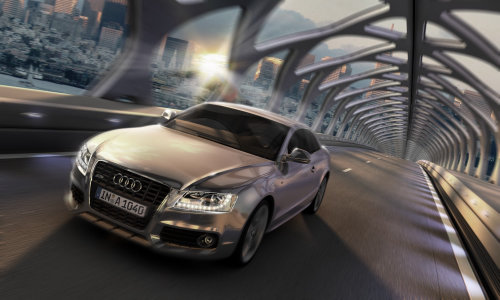 Audi A5 on road