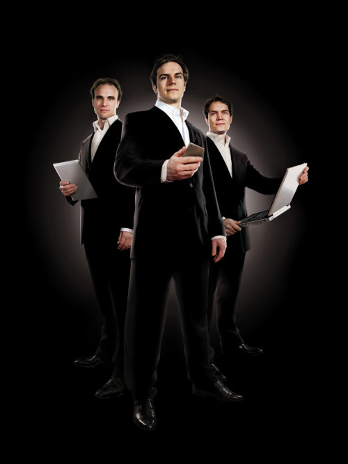 Business Executives in black suit