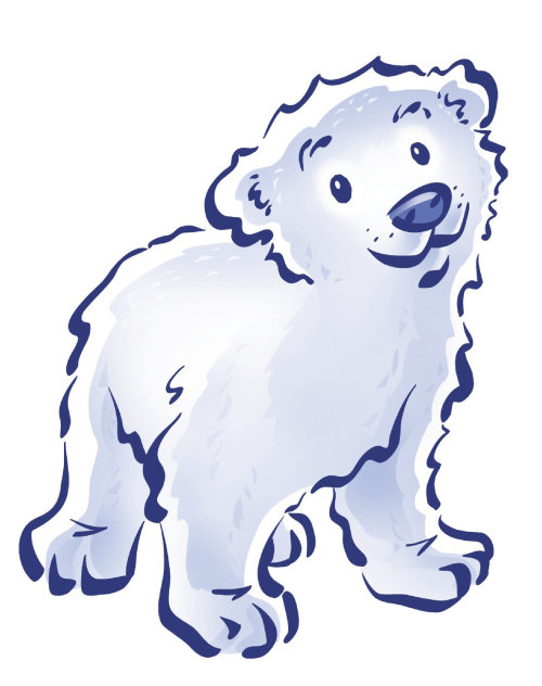 digital illustration of ice bear