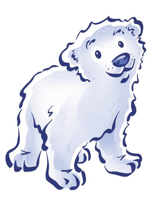 Ilustración digital de oso de hielo