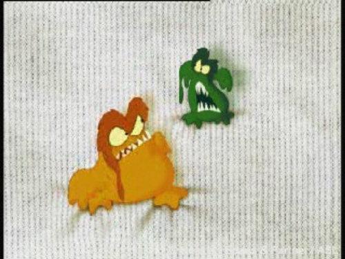 Animación de dibujos animados Monstruos de camiseta