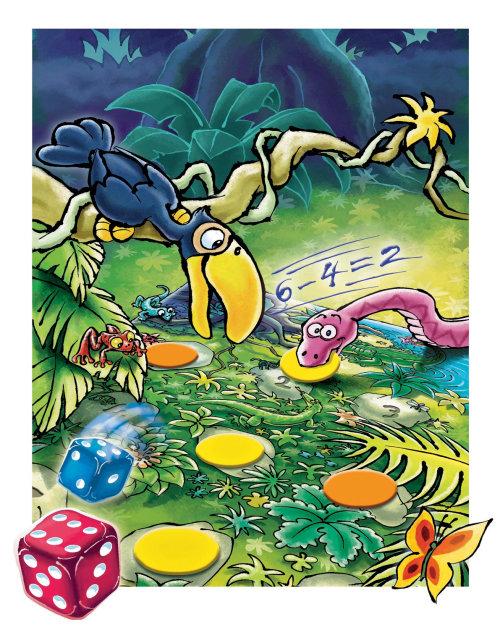 Ilustración acrílica de la jungla