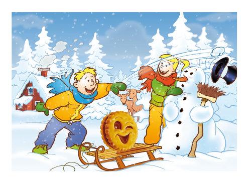 ilustración de la escena de invierno