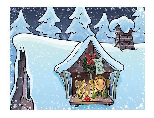 Navidad desea ilustración de libro para niños
