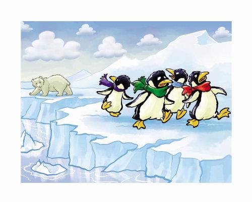Desenhos animados e humor Pinguins e urso
