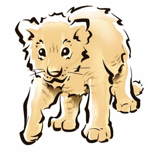 Ilustración de línea de león