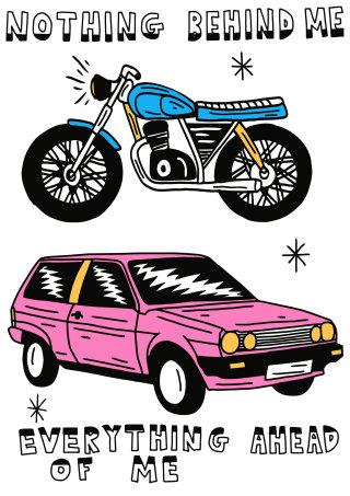 motorcycle, car, vehicle, adventure