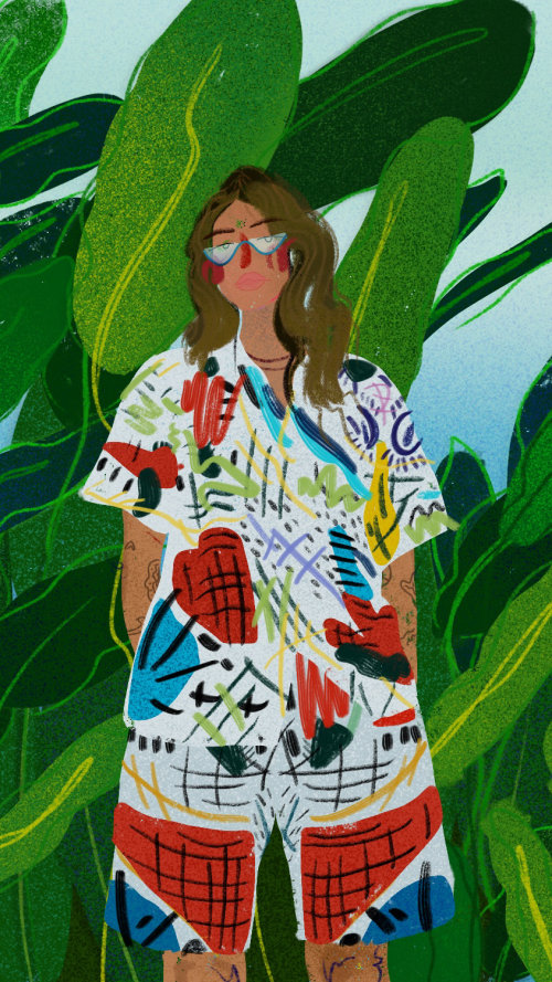 Peggy Gou digital painting